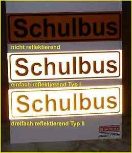 Magnetschild-Schulbus-in-normaler-reflektierender-und-dreifach-reflektierend