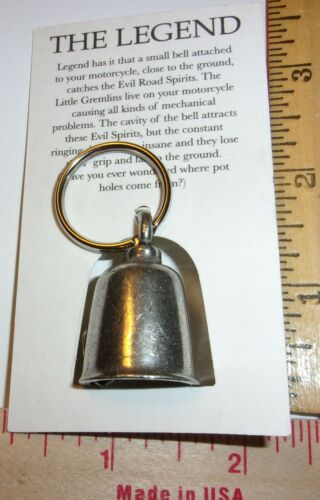Harley motor Gremlin Bell good luck motorcycle riding charm ride guardian md USA