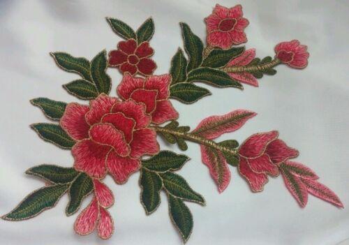 Coloré Broderie Florale Applique Motif Dentelle Couture Bordure Mercerie EB0324