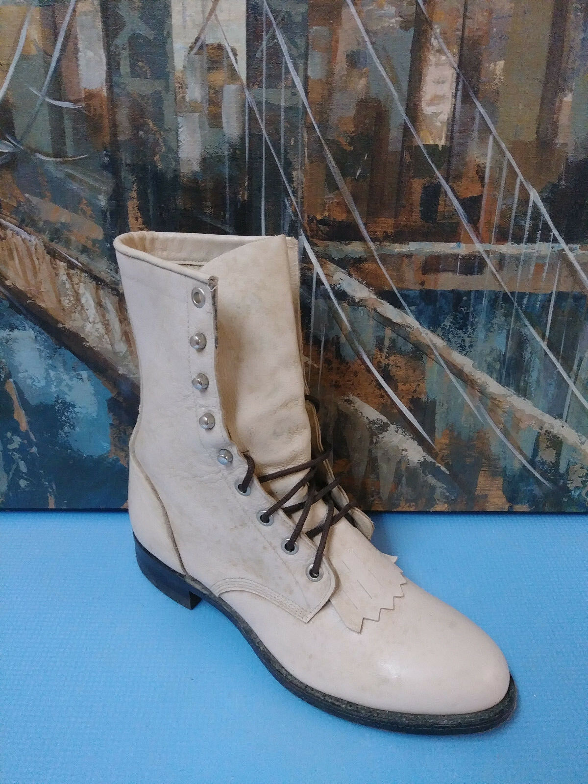 Justin Stivali  Brown Pelle Lace-Up Boot  Uomo   Boot 6 D 18838e