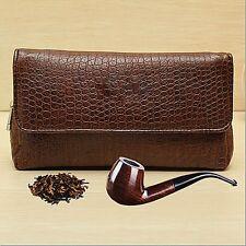 Leather Smoke Sack Smoking Pipe Case Savinelli Tobacco Bag Pouch Tamper Filter