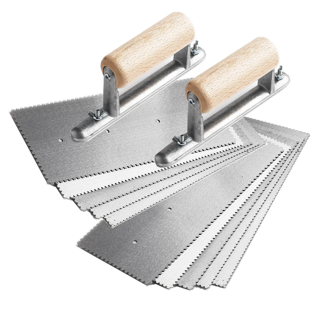 10 x A2 Adhesive trowels Amtico keardean with 2 x Handles with screws