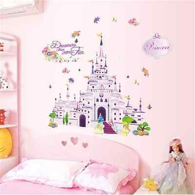 Princess Castle Girl Wall Decal Sticker Home Decor Vinyl Art Kids Nursery Room