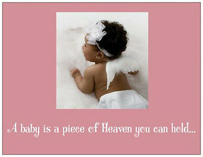 20 African American BABY GIRL Shower INVITATIONS  Postcards or Flat Cards Env