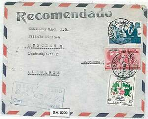 EAGLES \ MILITARY \ FLORA \ FLOWERS : COLOMBIA - AIRMAIL COVER to GERMANY 1960