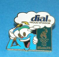 ATLANTA 1996 Olympic Collectible Sponsor Pin - Dial Soap feat Mascot Izzy