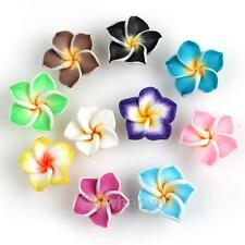 50pcs Mixed Flower Fimo Polymer Clay Spacer Beads 15mm 111590