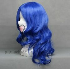 Fairy Tail Juvia Lockser Blue Anime Cosplay Party Wig + Free Wig