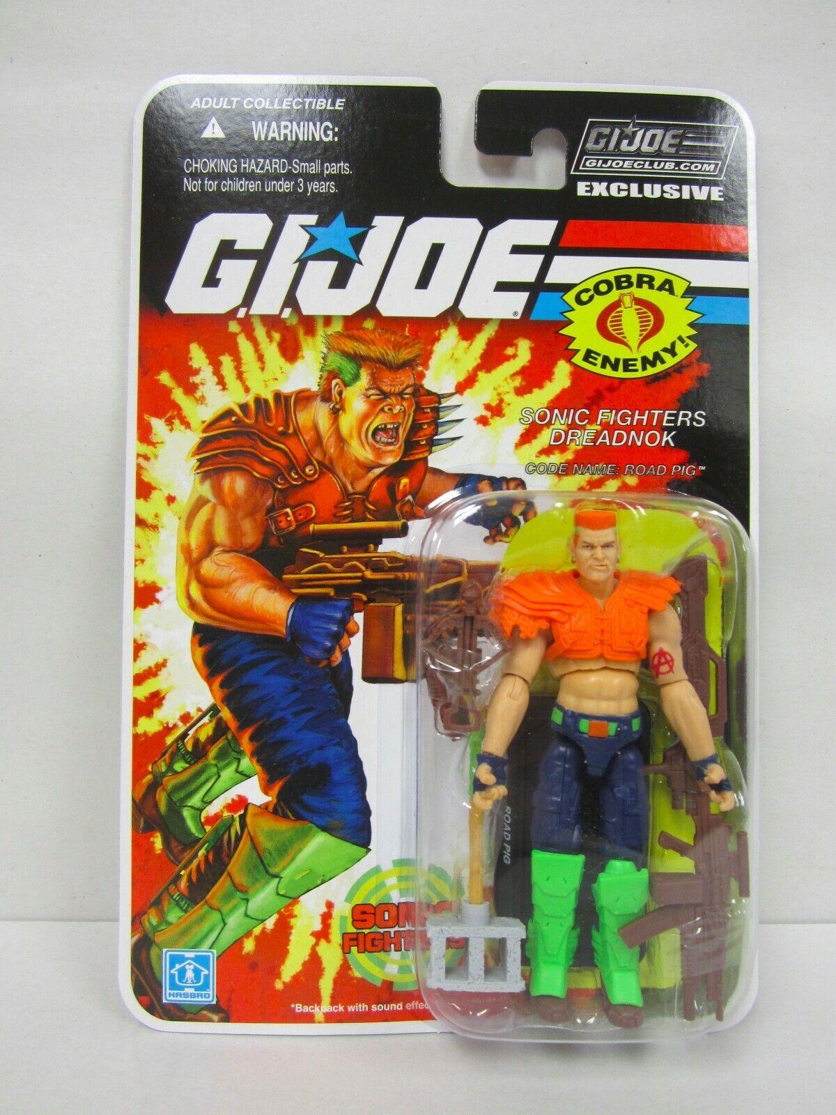 G.I. Joe Collector's Club FSS final 12 Sonic Fighter Road Pig acción figura menta en tarjeta