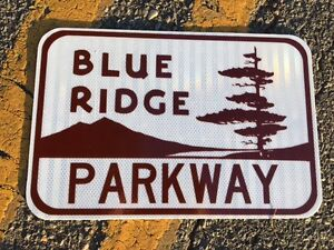 Blue-Ridge-Parkway-Road-Sign-18-034-x12-034-UNUSED-DOT-specs-traffic-route-highway