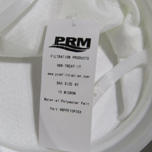 PRM TRADE SIZE #2 FILTER BAGS 10 MICRON POLYESTER FILTER BAGS NIB LOT OF 50 PCS