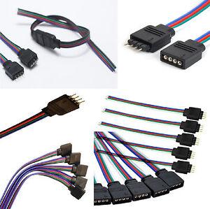8 CONNETTORI CAVI PER COLLEGARE RGB LED SMD STRISCIA