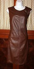 MARCCAIN  Leather Dress Brown Size N 4
