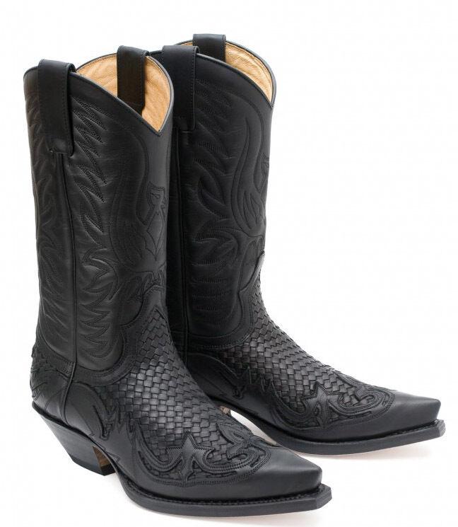 3241 Sendra stivali western nero promo per cogliere