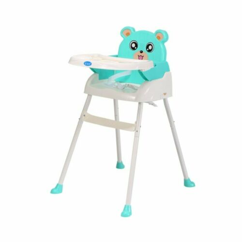 Foldable Baby High Chair Recline Feeding Highchair Height Adjustable Seat Table