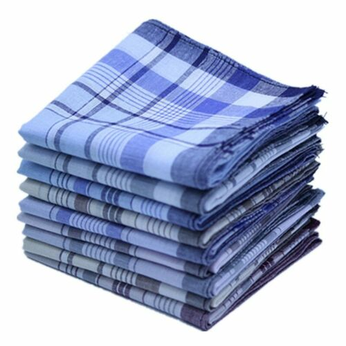 5Pcs//lot Plaid Stripe Handkerchiefs Men Pocket Cotton Towel for Wedding Party