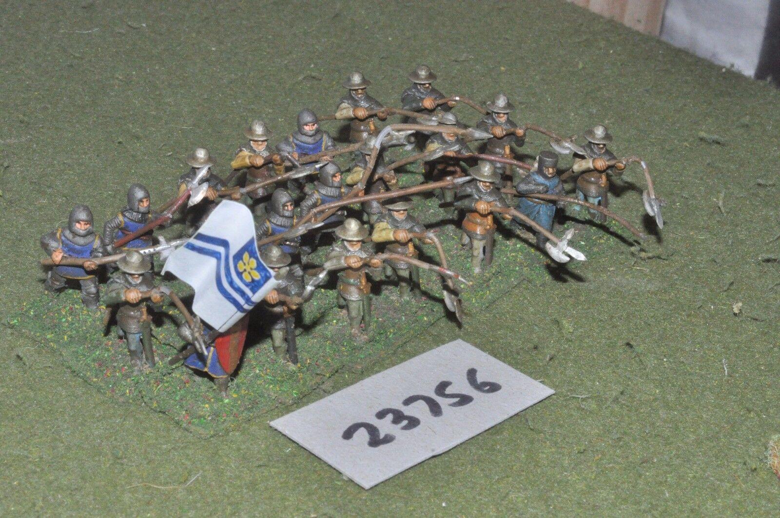 25mm mittelalterlichen   deutsch - halberdiers 21 zahlen - inf (23756)