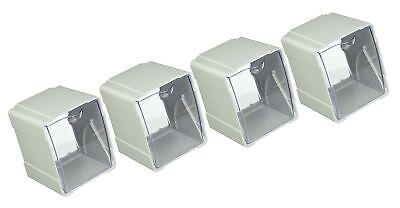 deflecto Next Gen Interlocking Tilt Bin 4 3//4 x 5 1//4 x 5 5//8 White//Clear 421103