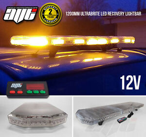 1200MM-48-034-4K-Ultrabrite-LED-Amber-Light-Bar-Beacon-Hazard-Recovery-Vehicles-12V