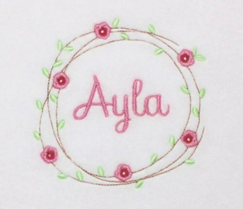 Personalised Baby Girl/'s Taggy Blanket Rose Design Taggies  Unique Baby Gift!