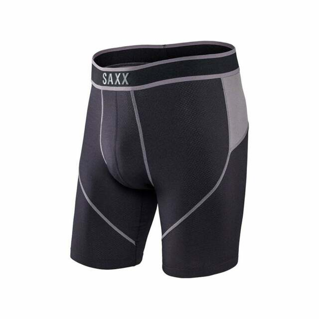 Blackout Saxx Underwear Co Men/'s Kinetic Long Leg L 2 Pack