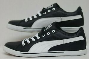 Details about Puma Benecio Leather Black White 351038 04 Men Size's