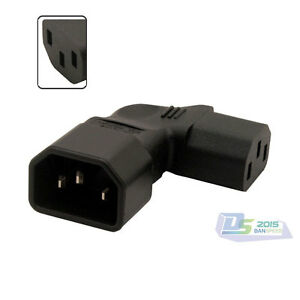Iec adapter right angled iec 320 c14 to c13 power - Angled wall tv mount ...