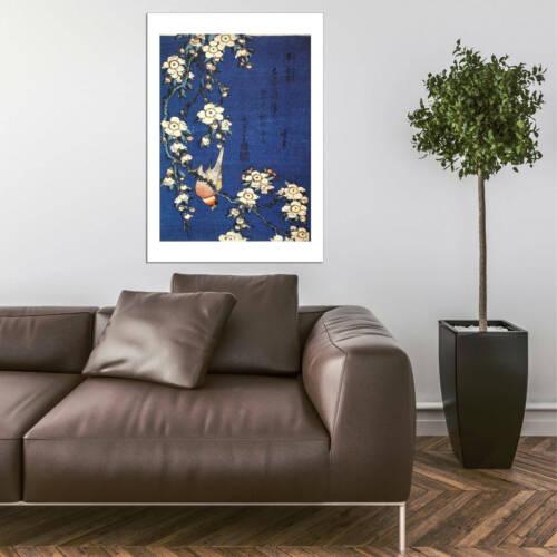 Katsushika Hokusai Goldfinch and Cherry Tree 1834 Wall Art Poster Print