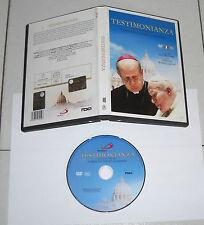 Dvd TESTIMONIANZA Karol Wojtyla Papa Cardinale Stanislao Dziwisz Vangelis Gesù