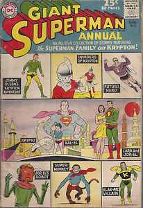 Superman Annual #5 VG+ Silver Age Summer 1962 All Krypton Issue