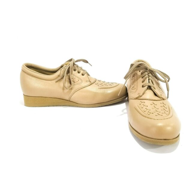 Propet Melanie Laceup Oxfords Taupe Walking Shoes Comfort Orthopedic *New in Box