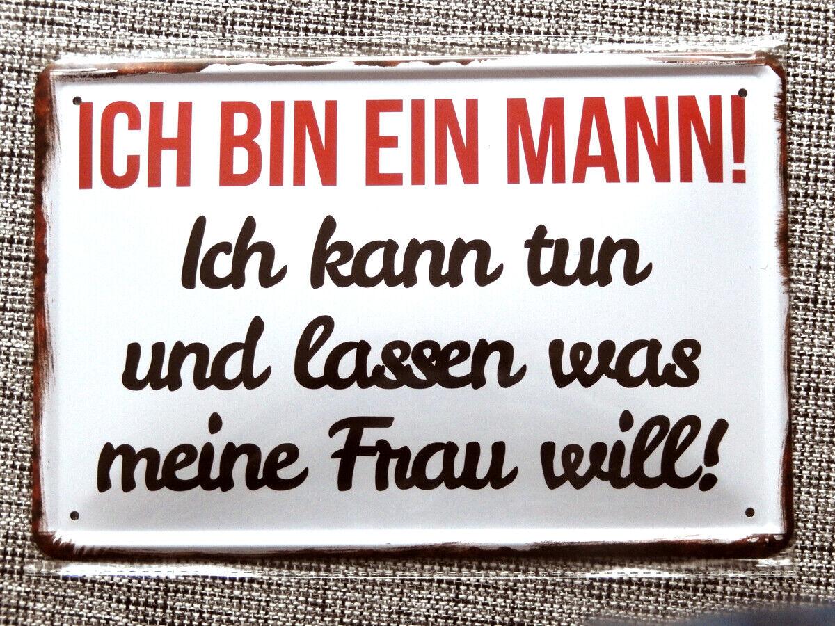 Blechschild 20x30 Parkplatz Männer Bierbauch Grill fun Schild Bar Kneipe Cafe