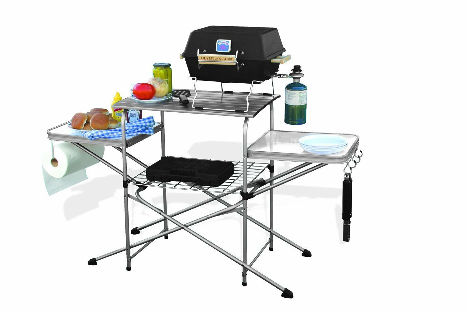 Brand New Camco 57293 Deluxe Grilling Table