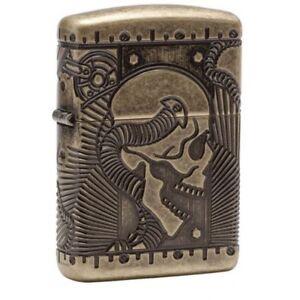 Zippo-Armor-Skull-Antique-Brass