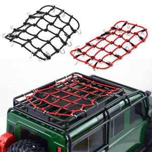 Elastic-Luggage-Net-W-Hook-for-1-10-SCX10-D90-TRX4-RC-Truck-Roof-Rack-Crawler