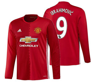 online store 86113 817f5 Details about ADIDAS ZLATAN IBRAHIMOVIC MANCHESTER UNITED LONG SLEEVE HOME  JERSEY 2016/17