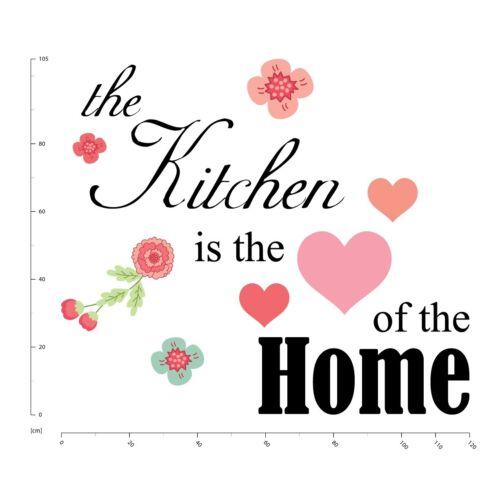 Love Heart Kitchen Quote Wall Sticker WS-51022