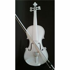 Student Acoustic Violin Full 4/4 Maple Spruce with Case Bow Rosin White