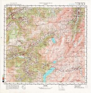 Russian Soviet Military Topographic Map Beaufort France 1 50