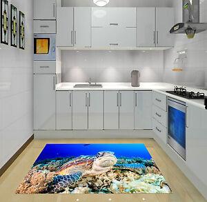 3d Fond Marin Tortue 007 Décor Mural Murale De Mur De Cuisine Aj Wallpaper Fr