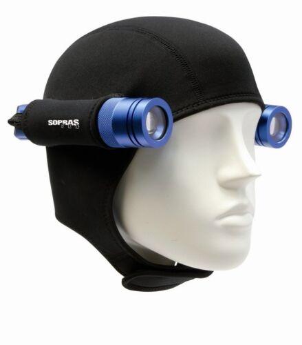 Neopren Kopfhaube mit 1 oder 2 Backuplampenhalterungen