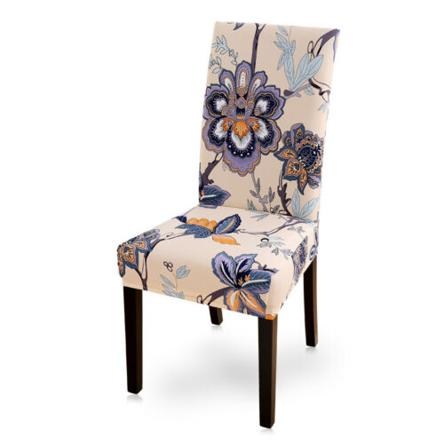 Home Removable Floral Dining Room Chair Covers Stretch Seat Cover Decor 76