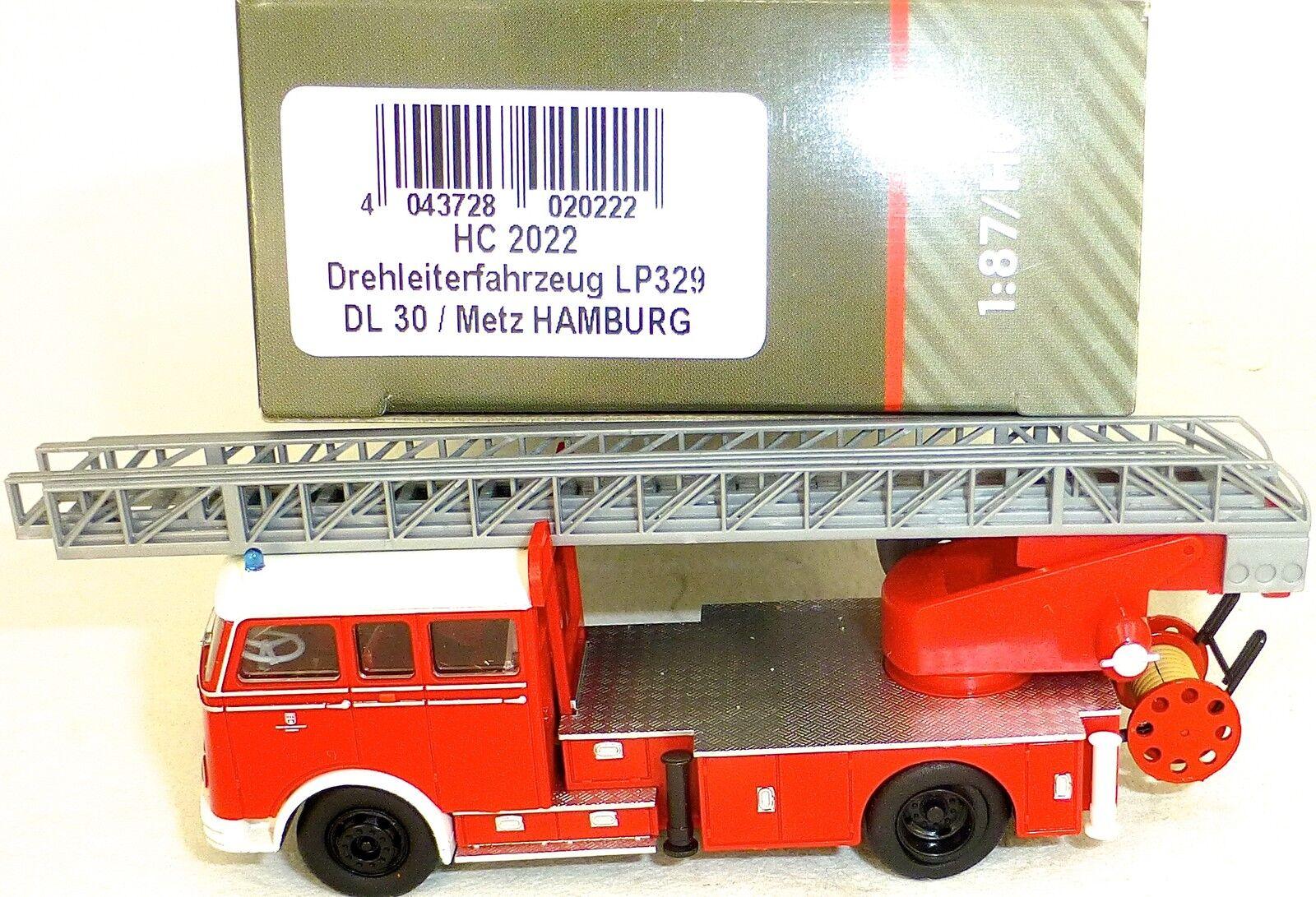 Drehleiterfahrzeug lp329 dl30 metz hamburg von heico hc2022 ovp neu µ