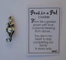 h single 1 Pea Peas in a Pod CHARM Ganz adoption family maternity new baby pearl