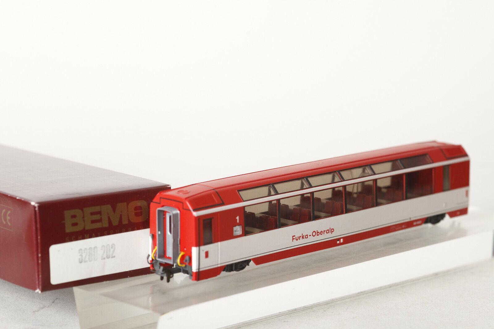 Bemo H0m Panoramawagen BVZ Furka - Oberalp  AS 4022 rot mit OVP (93893)