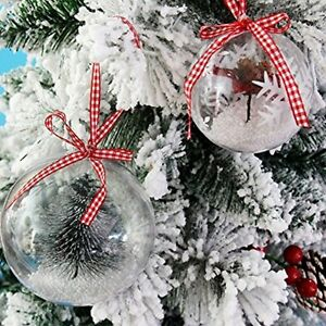 12-Ball-Christmas-Tree-Pendant-Decoration-Handmade-Clear-Transparent-Glass-Ball