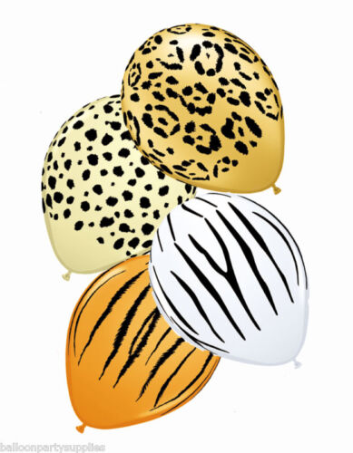 """5 x 11/"""" Safari balloons assorted designs and Colours"""