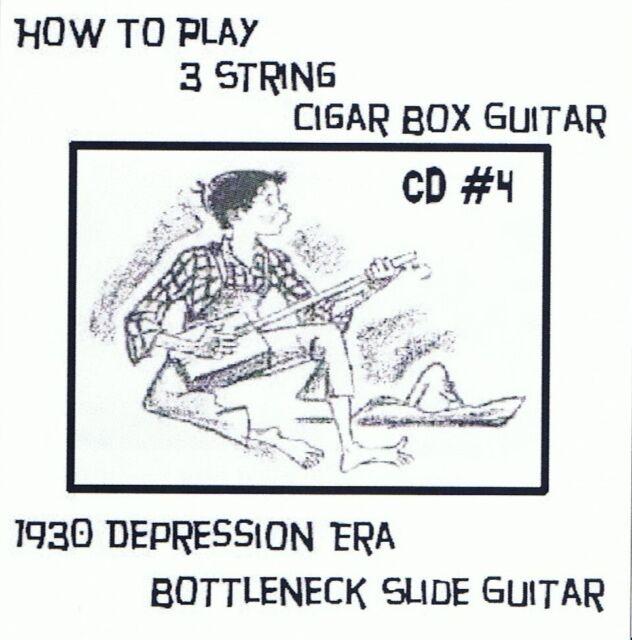 CD 4 Cigar Box Guitar 3 string video lessons bottleneck slide delta keni lee