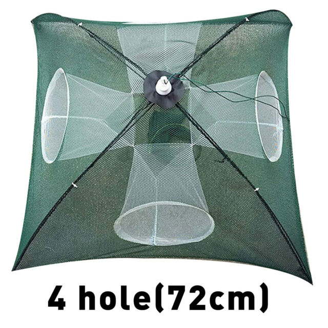 Practical Fishing Foldable Mesh Baits Trap Umbrella Cast Dip Net Crab Shrimp ..
