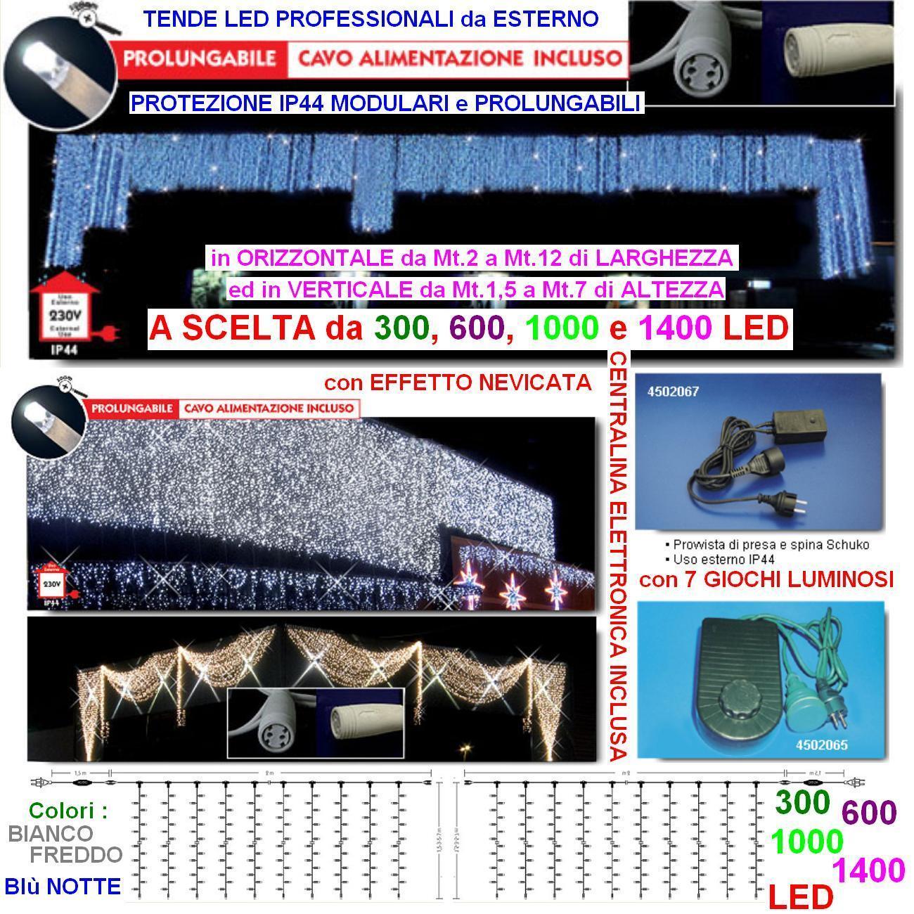 STORE PROFESSIONNEL 1000 LED BLEU Cm.200 L x 500 EXTENSION H IP44 220V